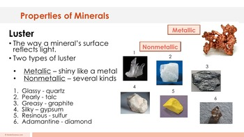 Properties of Minerals - Supplemental Lesson - No Lab