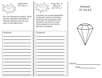 Properties of Minerals Trifold