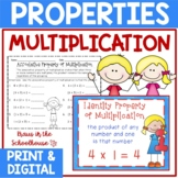 Properties of Multiplication -Identity, Associative, Commu