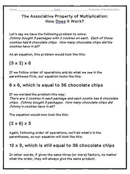 Properties of Multiplication Activities