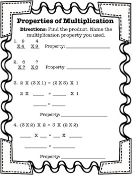 associative and commutative property of multiplication teaching  properties of multiplication properties of multiplication