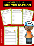 SUMMER - Properties of Multiplication-Worksheets  CCSS.MATH.CONTENT.3.OA.B.5