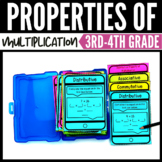 Properties of Multiplication Interactive Notebook & Task Cards