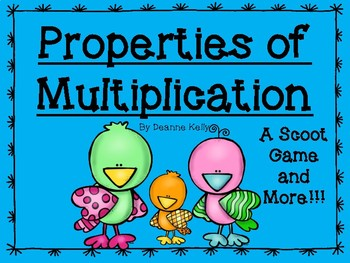 Properties of Multiplication A Scoot Game and More!