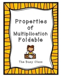 Properties of Multiplication Foldable