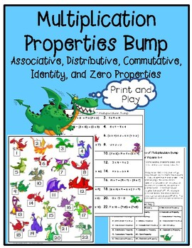 Properties of Multiplication Bump Game