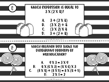 Properties of Multiplication Classroom Scavenger Hunt or Task Cards