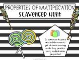 Properties of Multiplication Classroom Scavenger Hunt or Task Cards