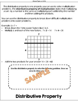 Properties of Multiplication Flip Book for Interactive Notebooks