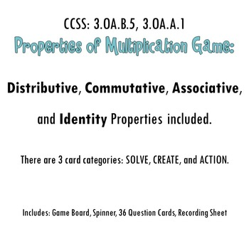 Properties of Multiplication Game