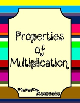 Properties of Multiplication Handouts Only