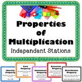 Properties of Multiplication Vocabulary Math Stations & Word Wall