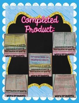 Properties of Multiplication Interactive Flip Book