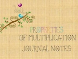 Properties of Multiplication Journal Notes