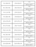 Properties of Multiplication Match-Up