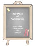 Properties of Multiplication Matching Game