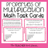 3rd Grade Properties of Multiplication Task Cards