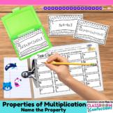 4th Grade Math Center: Properties of Multiplication Task Cards