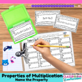 4th Grade Math: Properties of Multiplication Task Cards: M