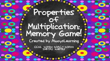 Properties of Multiplication Memory Game!