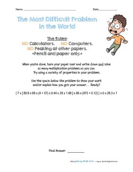 Properties of Multiplication No Prep Student Reference & Practice Pack