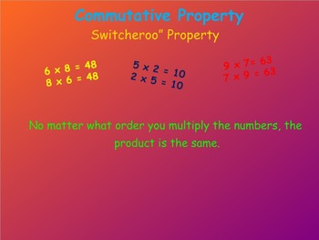 Properties of Multiplication Notebook Lesson