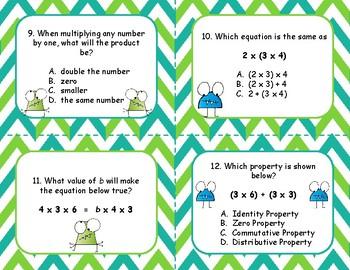 Properties of Multiplication OA.5 Task Cards