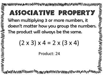 Properties of Multiplication Poster Set