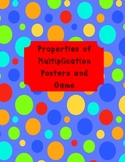 Properties of Multiplication Posters {Color and B&W) and Foldable {Common Core}