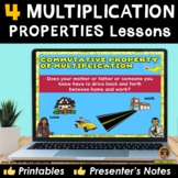 Properties of Multiplication PowerPoint Lesson With Printables