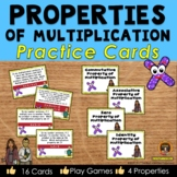 Properties of Multiplication Practice Cards