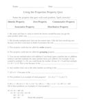 Properties of Multiplication Quiz