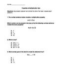 Properties of Multiplication Quiz - VA SOL 3.20