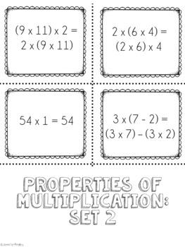 Properties of Multiplication SPOONS Game