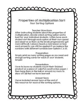 Properties of Multiplication Sort