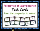 Properties of Multiplication Task Cards - Solve!