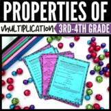 Properties of Multiplication Worksheets 3rd Grade Bundle