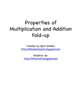 Properties of Multiplication and Addition Fold-up - Free