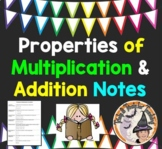 Properties of Multiplication Addition Notes Communative Associative Distributive