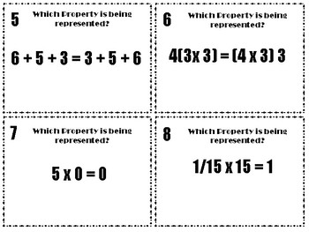 Properties of Multiplication and Addition Task Cards