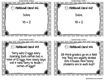 Multiplication and Division with Units 2-5 and 10 Task Cards