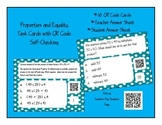 Properties of Multiplication and Equality Task Cards with