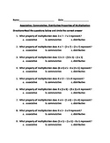 Properties of Multiplication  (commutative, associative, distributive)