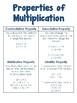 Properties of Multplication