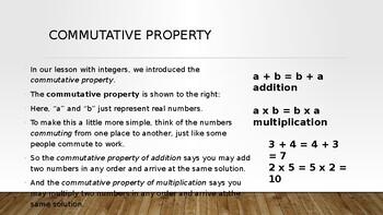 Properties of Numbers PowerPoint