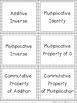 Properties of Numbers Card Game