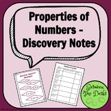 Properties of Numbers Discovery Notes
