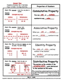 Properties of Numbers Flip n' Fold Notes