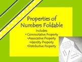 Properties of Numbers Foldable: Commutative, Associative,