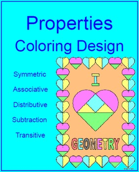 Properties of Numbers (Geometric) - Coloring Design.